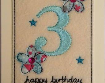 Age 3 - 3rd Birthday Card