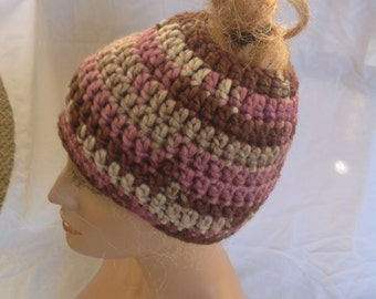 SALE - Country Rose Chunky Top knot/Messy Bun Hat