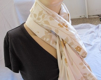SALE - Vintage Butterfly Floral Fabric Scarf (5602)