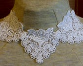 White applique necklace - 3 appliques together - trach stoma cover