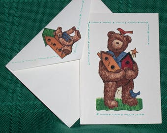 NOTECARDS--Bears and Friends in Fabric Applique