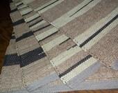 Reserved for Karen, Hand woven rag rug, (4,24x35)