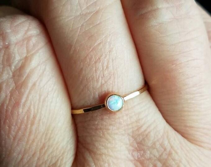 Opal Ring 14k Gold Ring
