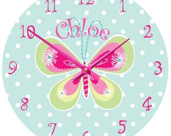 Personalised Butterfly Wall Clock