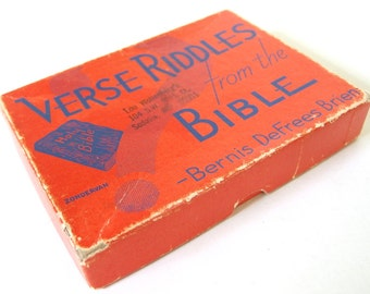 Vintage 1930's Verse Riddles Bible Trivia Game by BD Brien