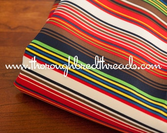 Colorful Geometric Stripe - Vintage Fabric Rainbow Apparel