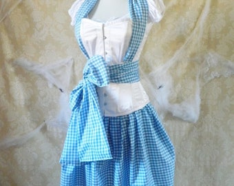CUSTOM SALE Dorothy/Wizard Of Oz Corset Outfit-Whole Corset Outfit-Made For Buyer