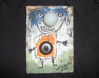 Mr. Bright Room Light Original Outsider Art
