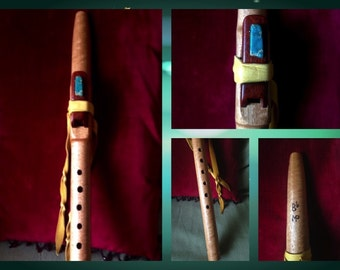 B-flat Native American Style flute in Tiger Wood