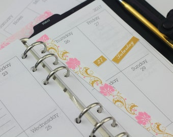 2017 Dated Planner Calendar Week on two pages personal sized planner inserts wo2p printable calendar printable planner stickers