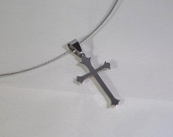 Stainless Steel Cross necklace - UNISEX