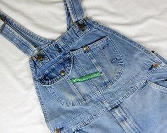 """Vintage Overalls, Key Brand, Blue Cotton Denim, 40"""" Waist"""