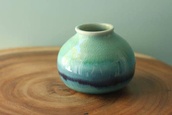 coastal bud vase
