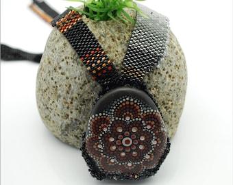Mandala Stone Necklace (Custom Made)