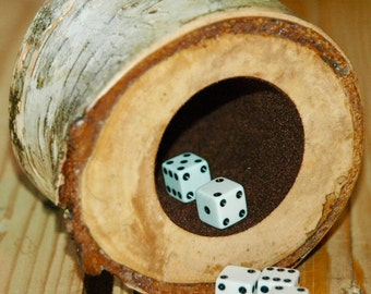 Wood dice cup - Birch