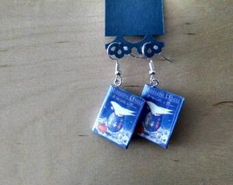 Mini A Wrinkle in Time Book Earrings - Book Jewelry - Handmade Book Earrings - Mini Book Jewelry - Handmade Mini Book Earrings