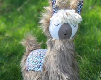 Brown Llama Alpaca Pillow