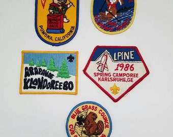 Vintage Boy Scout Patches, Set of Boy Scout Patches, Winter Boy Scout Patches, Boy Scouts 1980s, Instant Collection, Movie Props, Man Cave