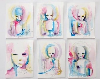A Set Of Six Abstract Paintings