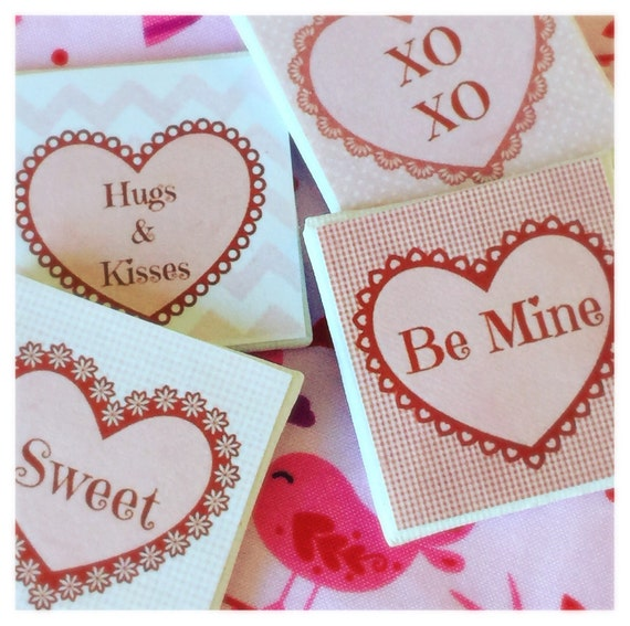 """Valentine Art Canvas Sweet Sayings -2""""x2"""" canvas- your choice"""