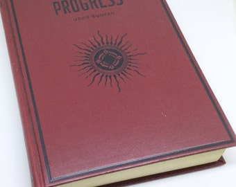 The Pilgrim's Progress by John Bunyan vintage hardcover book with biography of author Donohue