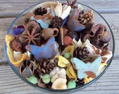 Country Meadows Potpourri, Rustic, Spring Potpourri, Butterflies, Salt dough, Botanicals, Room Scent, Home Decor, Refresher Oil Included