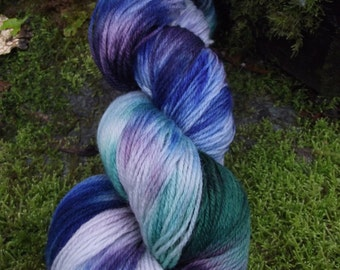 Handpainted sock yarn, fingerling yarn, Superwash Merino yarn 100 grams-Jewels