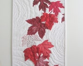 Reserved for Sue - Canada 150 Art Quilt Red Maple Leaves