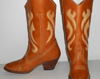 Womens Western Fashion Boots Danelle Tan Brown Cowboy Cowgirl Boho Size 6 7 M
