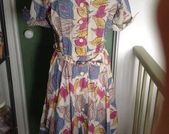 Vintage tea dress 1940s