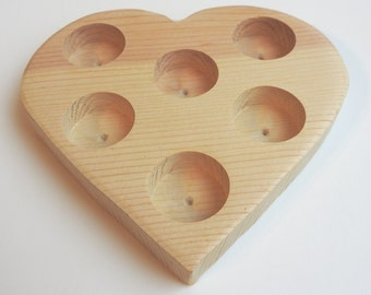 Bath Salt Tube Heart Shaped Wooden Display