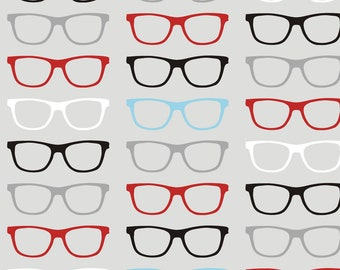 Geekoptical Fabric - Geekoptical By Smuk - Gender Neutral Nerdy Glasses Cotton Fabric By The Yard With Spoonflower