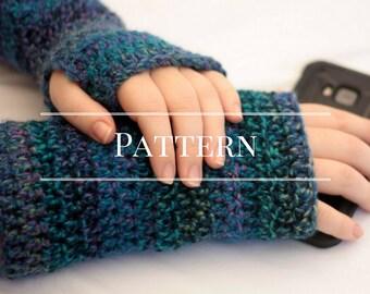 Fingerless gloves crochet pattern, easy crochet pattern,