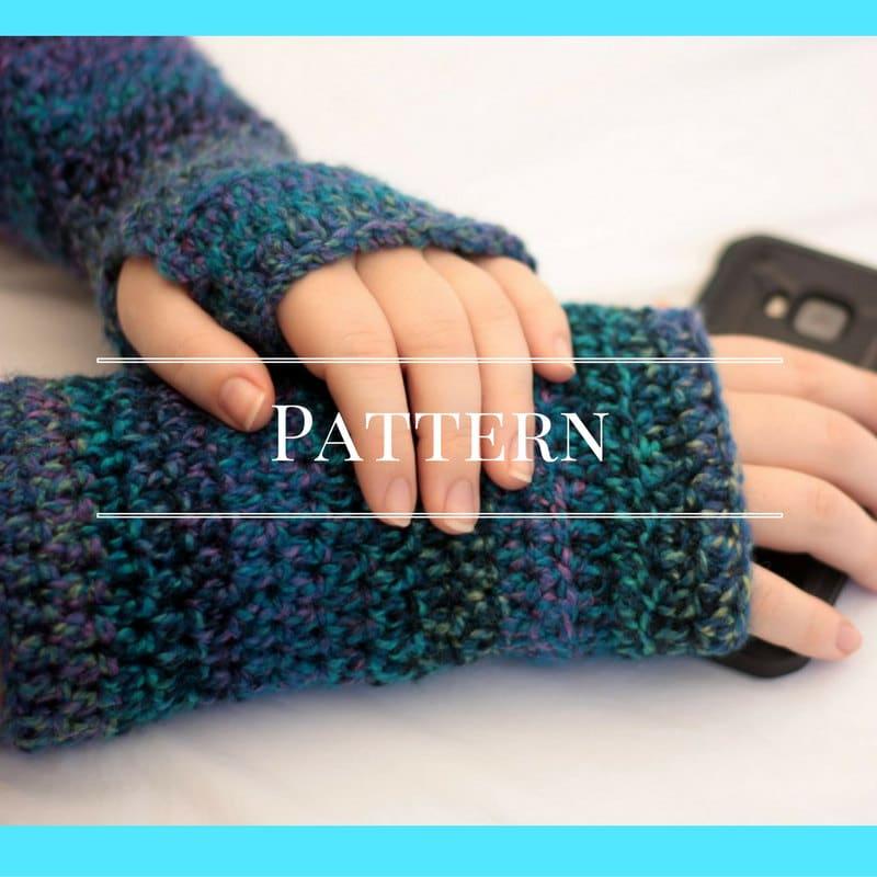 Crochet Fingerless Gloves Pattern Easy : Fingerless gloves crochet pattern easy by ChocolateDogStudio