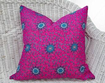 Vibrant Pink Pillows, Pink Hippy Pillows, Pink Bohemian Pillows, Fuchsia Throw Pillows, Boho Pillow Covers, Pink Sari Pillow, 20x20, NEW