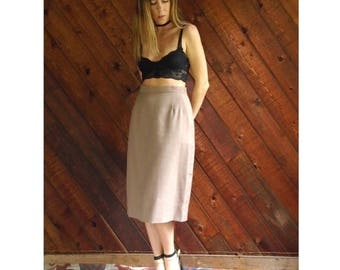 extra 30% off sale . . . High Waisted Pleat Front Pencil Skirt - Vintage 80s - S/M 4