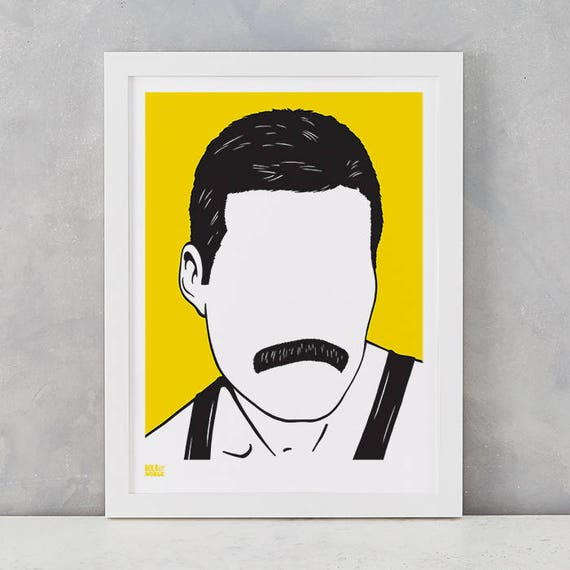 Freddie mercury screen print freddie mercury wall art for Buy ikea gift card with paypal