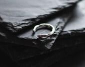 CHRISTMAS SALE Sterling silver wrap ring / Organic ring / Minimal Ring / Unrefined ring / Modern ring / Midi Ring