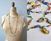 Color Riot necklace | 1930s venetian glass necklace | art deco 30s end of day necklace