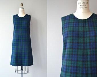 Pendleton plaid dress | 1960s wool shift dress | 60s wool shift dress
