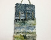 Winter Walk Mini textile artwork by Donna Cheshire