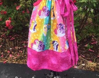 My Little Pony Pillowcase Dress Little Girls Custom Made Dress Size 2t 3t 4t 5t Pillowcase Dress Summer Dress