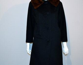 Vintage Coat New York City Fashion 1950s
