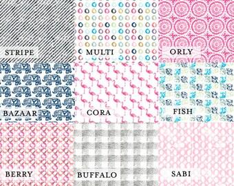 Custom Hand-blocked Crib Sheet Nursery Organic Boy Girl Baby Bedding Print