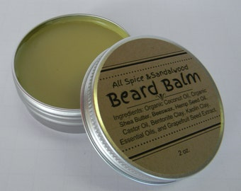 Handcrafted Beard Balm - 2 oz - Palm Free