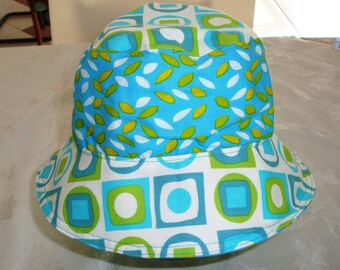 Reversible Bucket Hat - Bucket Hat - Cotton Hat - Women's Hat - Sun Hat - Adult Bucket Hat