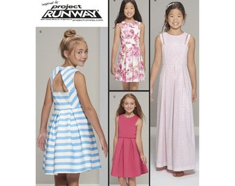 FANCY DRESS PATTERN! Make Girls Prom - Formal - Junior Bridesmaid Dress /  Sizes 8 to 16 or 8 1/2 to 16 1/2