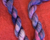 Dusk. Hand painted purple...