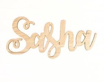 3' wide wooden name - Sasha FONT