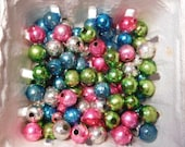 Vintage 1950's Mercury Glass Beads for Christmas Arts and Crafts- 100 of Them